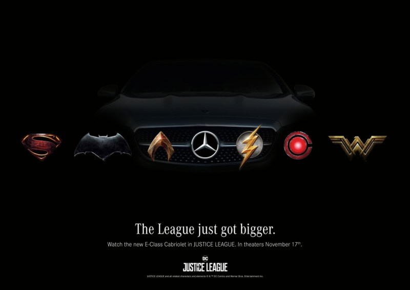 Mercedes-Benz Launches Campaign to Support Warner Bros. Pictures' Upcoming Epic Action Adventure JUSTICE LEAGUE: Super Heroes drive Mercedes-Benz