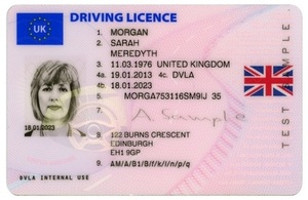 EU/UK Driving Licence