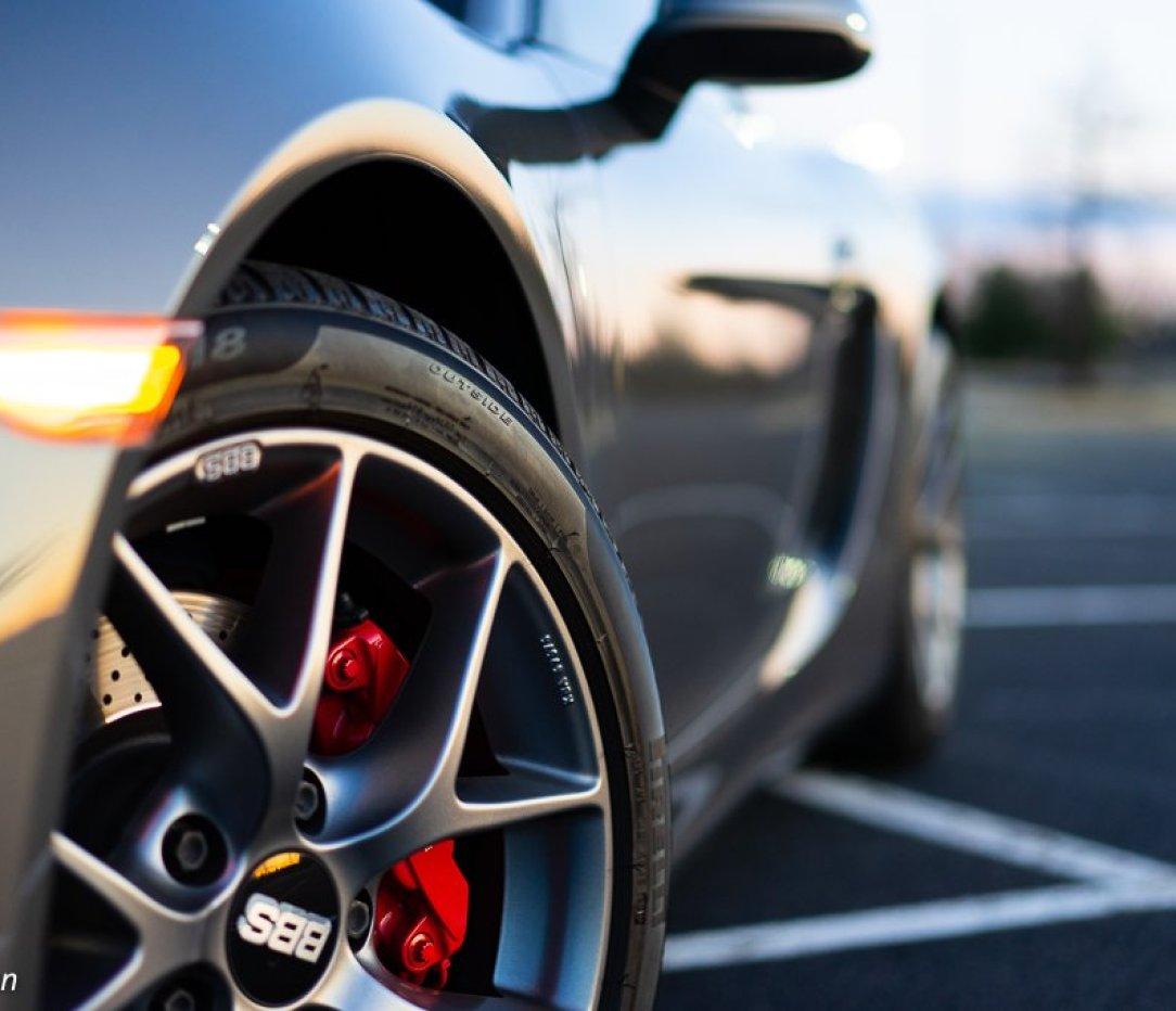 Porsche Cayman, BBS Wheel, Sunrise photo