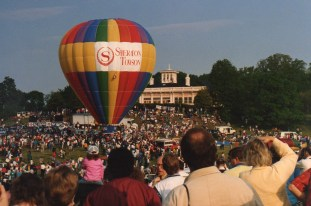 Hundreds once watched gas balloons take riders up, up and away from the Grand Lawn at the Mansion House.