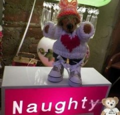 Duffy the Disney Bear proves his friend Ker'Dunkedunk Bear is naughty