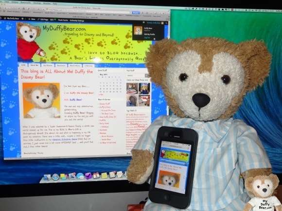 Duffy the Disney Bear thanks GoDaddy.com for his technical support