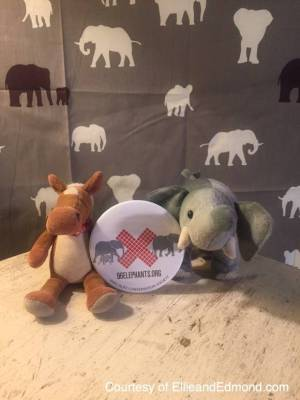Ellie and Edmond spread the message about World Elephant Day