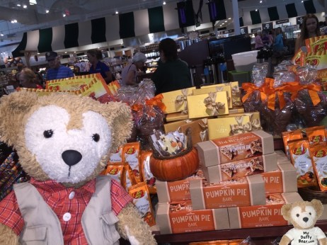 Duffy the Disney Bear likes the Halloween candy and treats at The Fresh Market