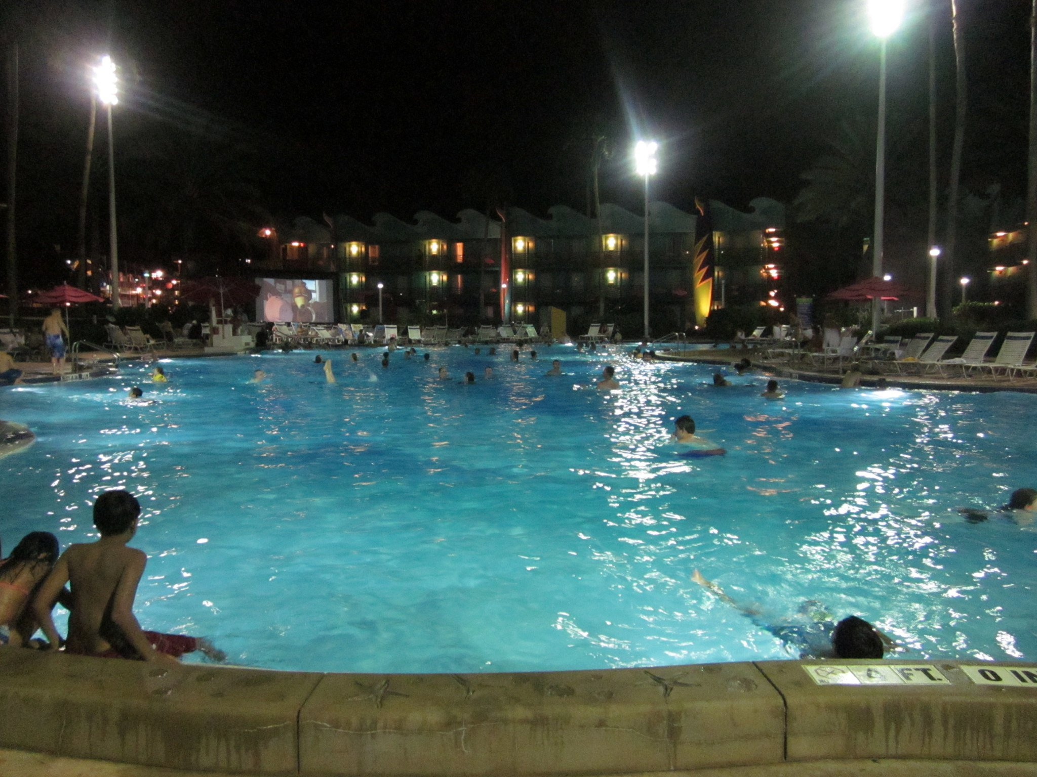 kids sports chairs kid camping chair poolside movie at disney's all-star resort | myearsareround