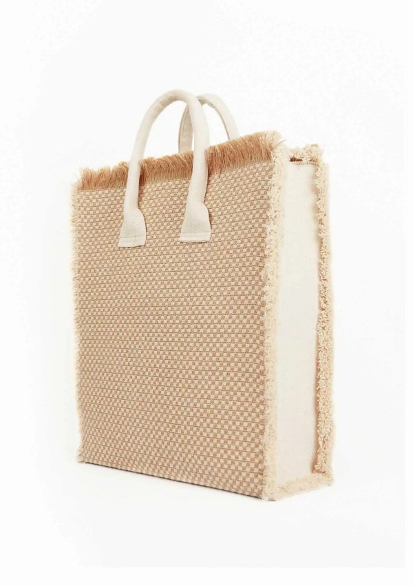 Maritimus shopper bag made from sustainable materials, 45 degree view