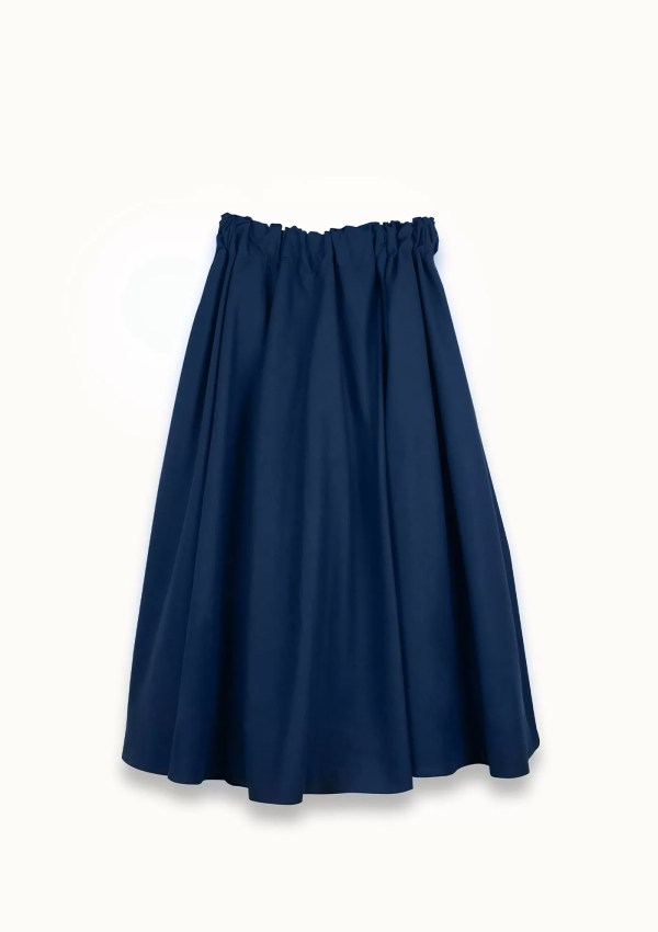 dark blue skirt made from organic and recycled cotton - back