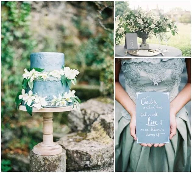 Vintage Blue Accents | 2016 Wedding Trends