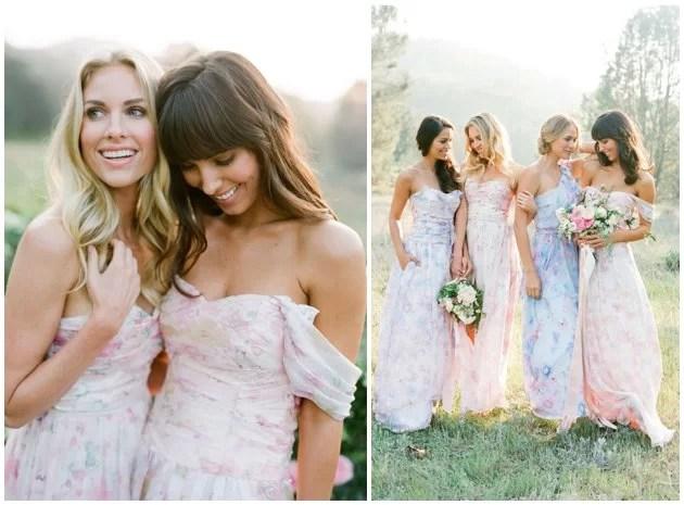 Floral Bridesmaid Dresses | 2016 Wedding Trends