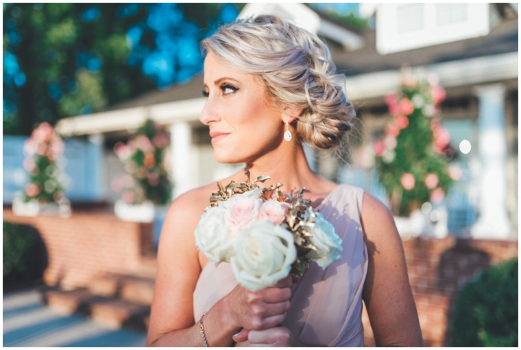 bridesmaid loose braided updo