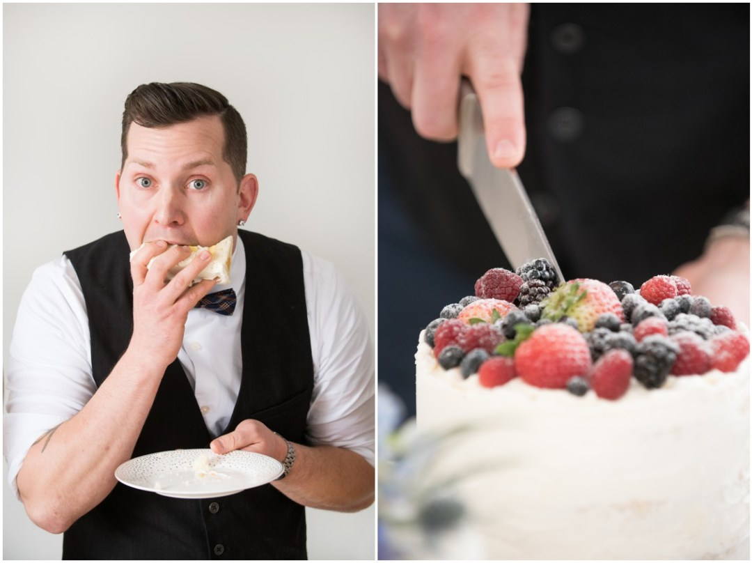 Chef Steve Anthony with his wedding cakes  | 5 Things to Consider When Choosing Your Wedding Cake Designer | Bridal Feature Image | My Eastern Shore Wedding | Chef Steve Konopelski