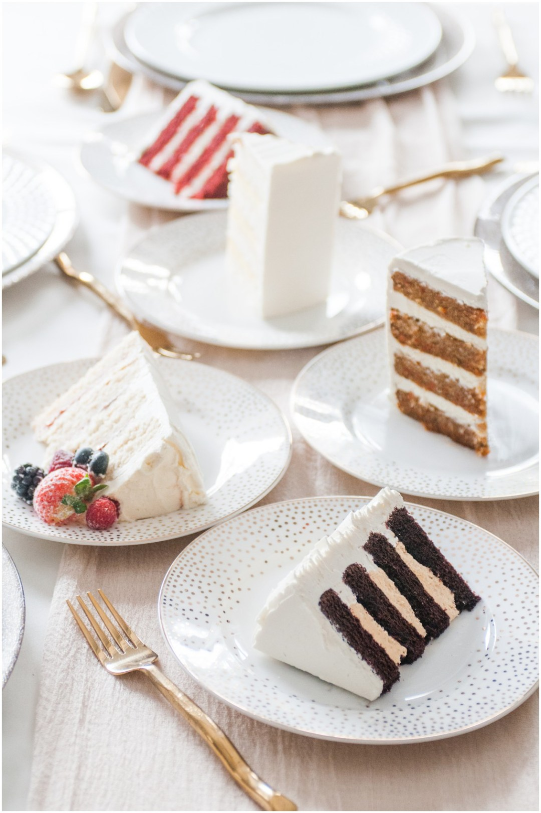 Table scape featuring Steve Konopelski Wedding Cakes   | 5 Things to Consider When Choosing Your Wedding Cake Designer | Bridal Feature Image | My Eastern Shore Wedding | Chef Steve Konopelski