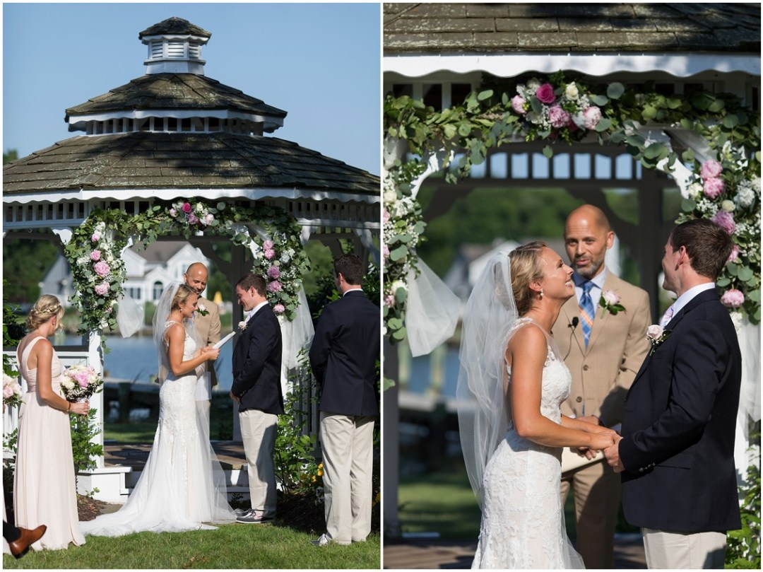 Bride and groom reciting their wedding vows. | My Eastern Shore Wedding |