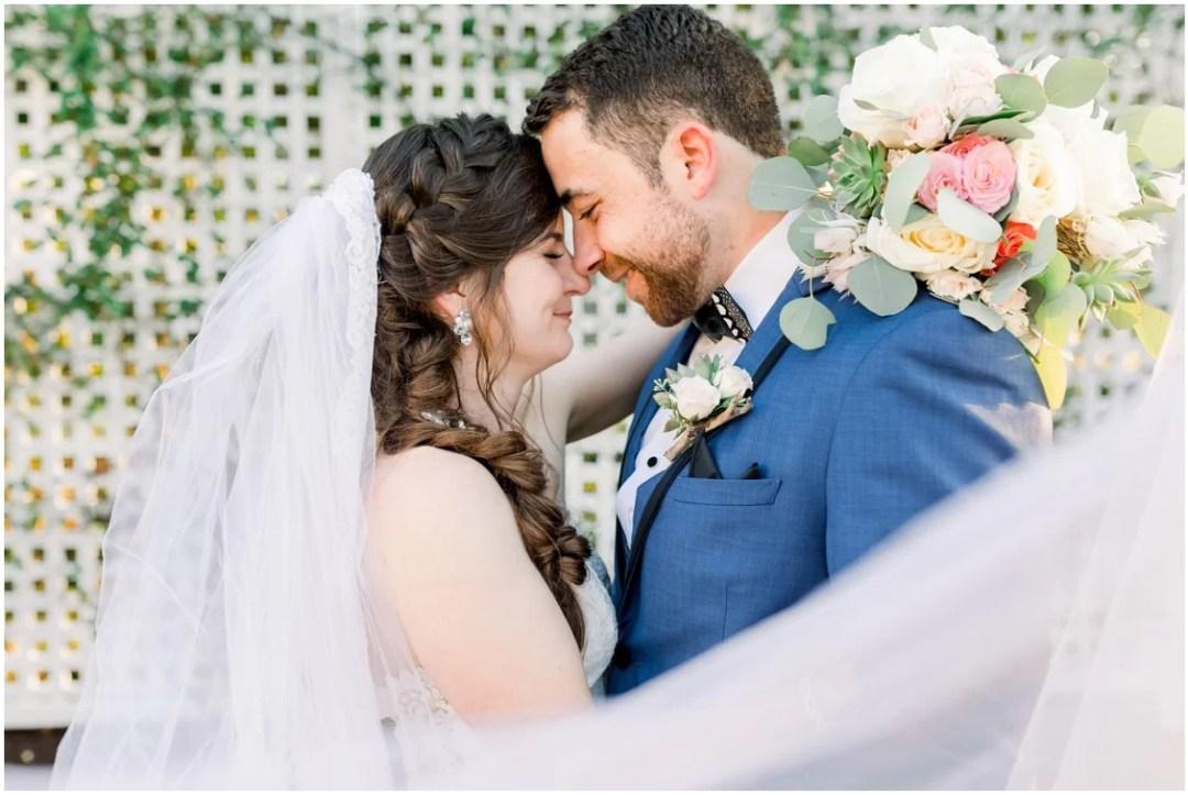 Bride and groom at the Chesapeake Bay Beach Club. | My Eastern Shore Wedding |
