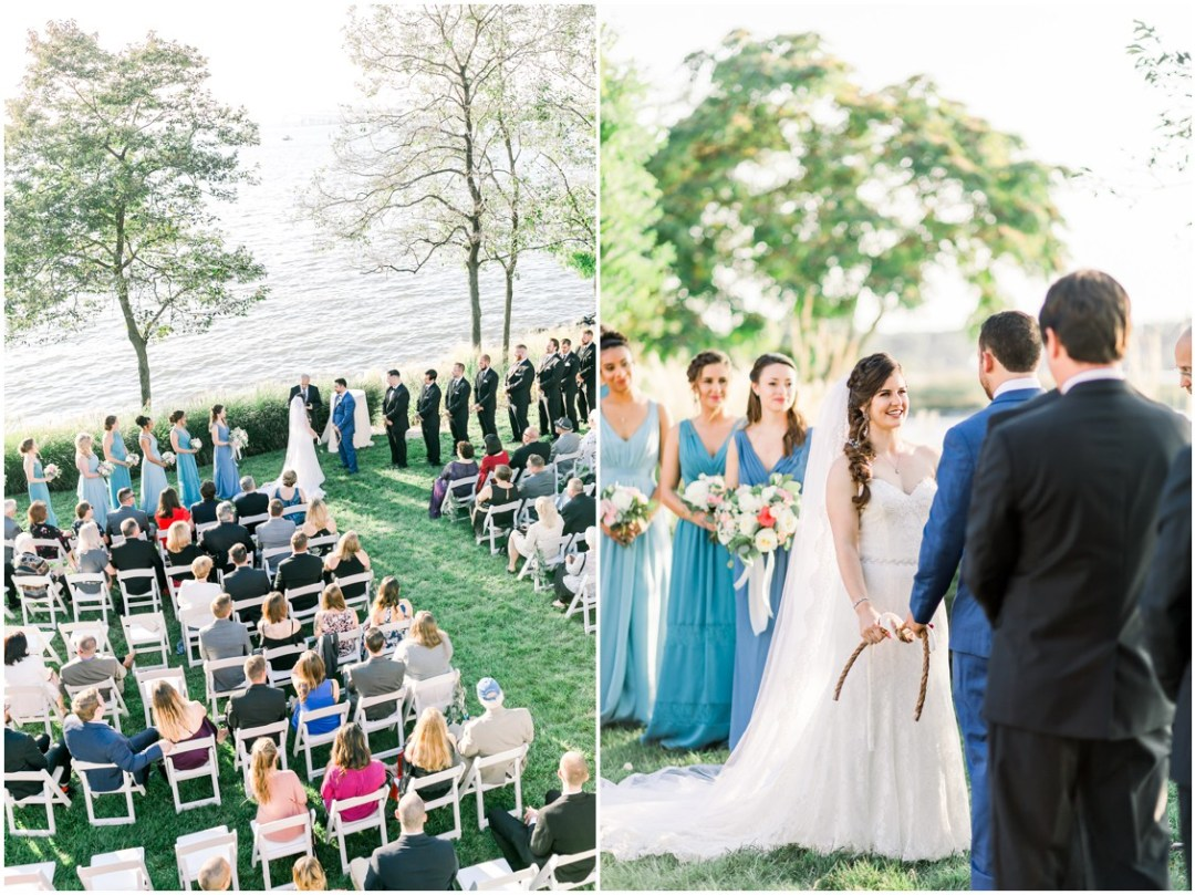 Bride and groom tie the knot. | My Eastern Shore Wedding |