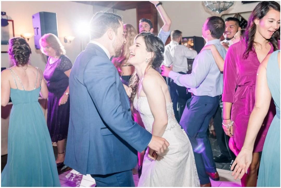 Bride and groom dancing at wedding reception at Chesapeake Bay Beach Club. | My Eastern Shore Wedding |