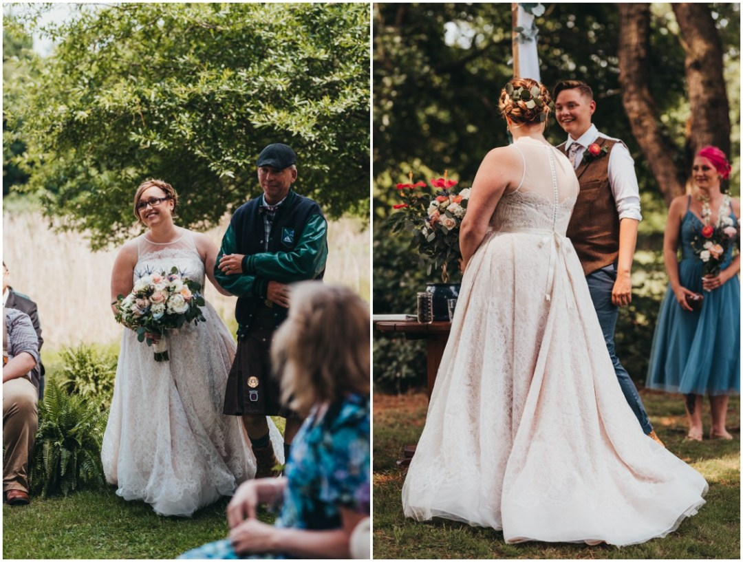 Father walks bride down the aisle. | My Eastern Shore Wedding |