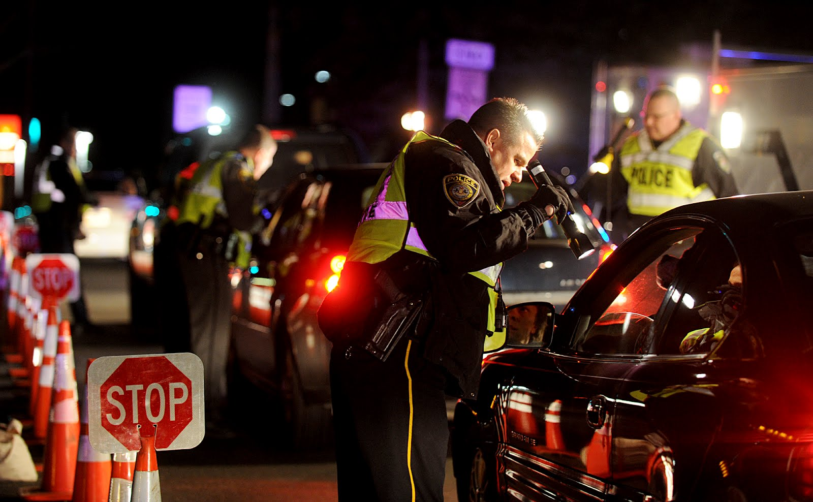 Checkpoint for DUI in Easton