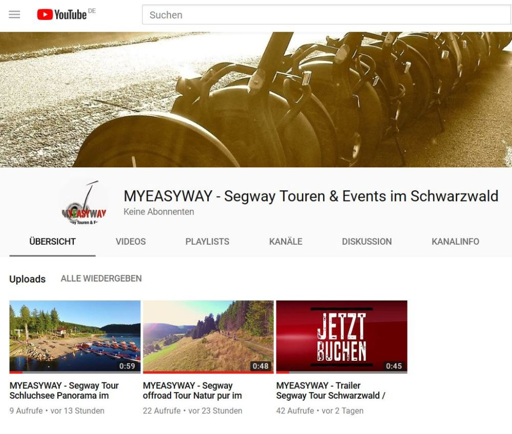MYEASYWAY YouTube Channel Video Trailer Segway Tour