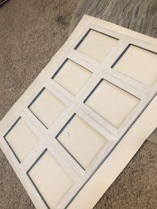 the farmhouse window painted white