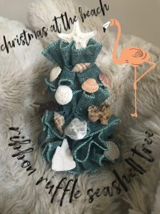 Seashell Ribbon Ruffle Tree