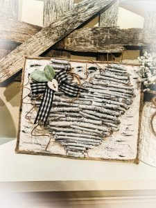 Farmhouse Twig Heart Canvas