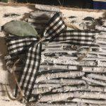 buffalo plaid bow for twig heart canvas