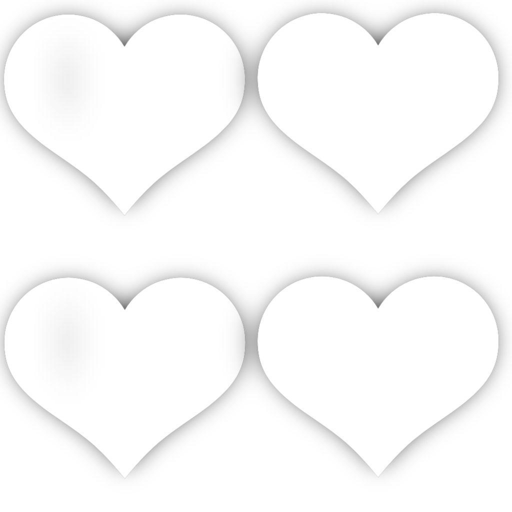 hearts template for felt hearts