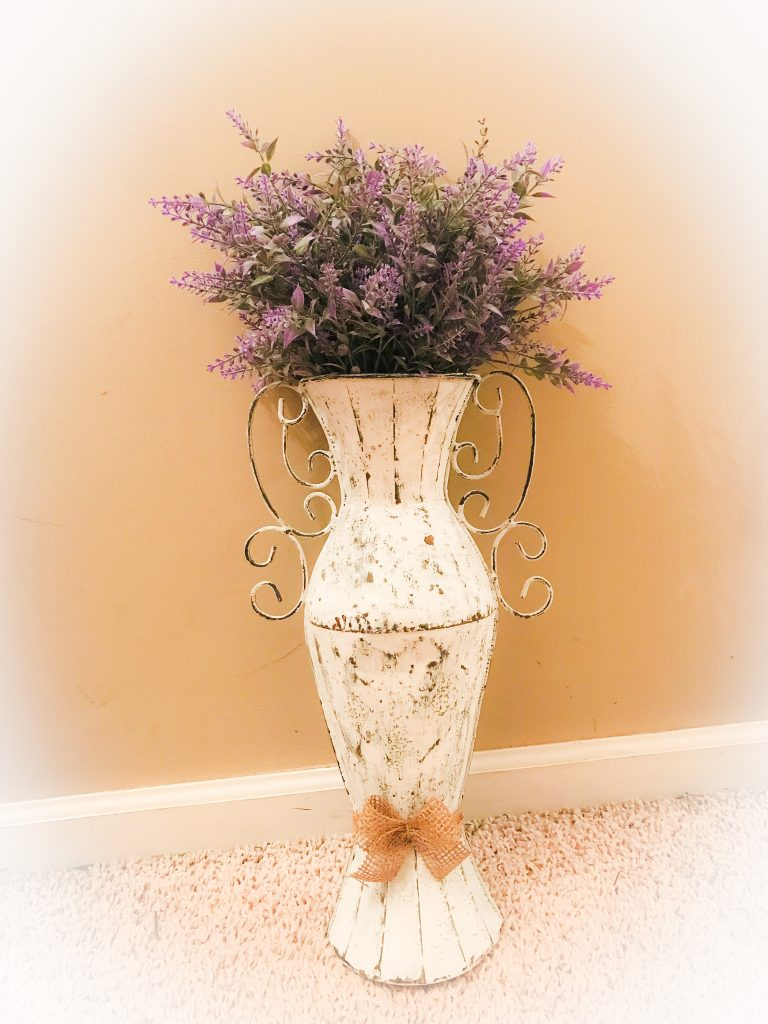 metal wall vase given a farmhouse look