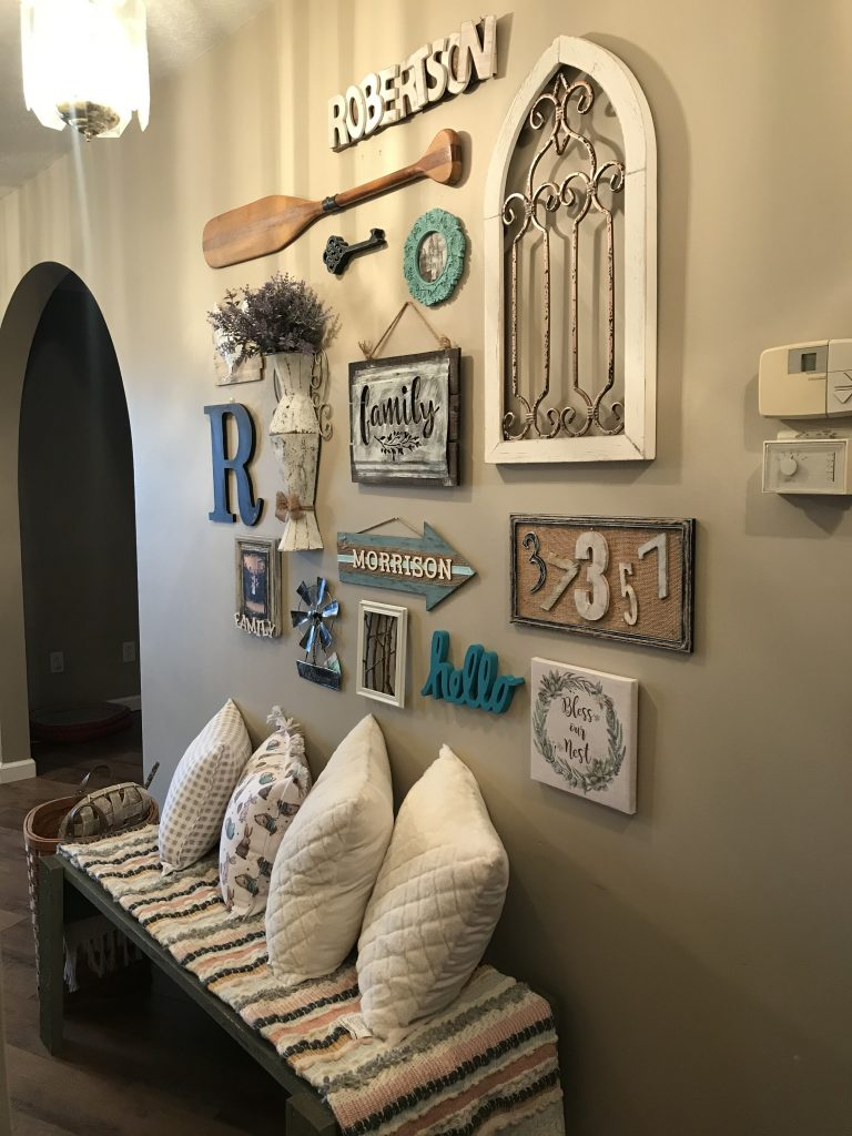 our farmhouse gallery wall