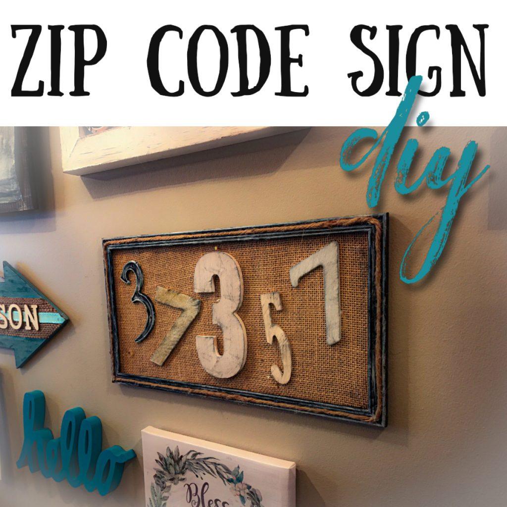 DIY zip ciode sign