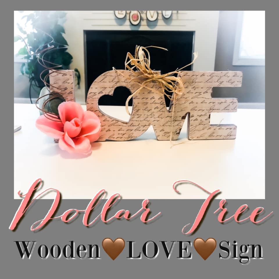 dollar tree wooden love sign valentines top ten DIYs
