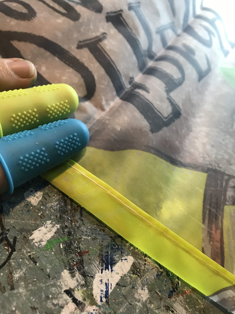lemon flag scroll sign | lemon scroll DIY | dollar tree flag craft | paint stick projects