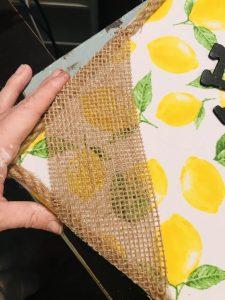lemon canvas | farmhouse spring decor | lemon decor | spring decor ideas | lemon decor ideas | lemon craft ideas