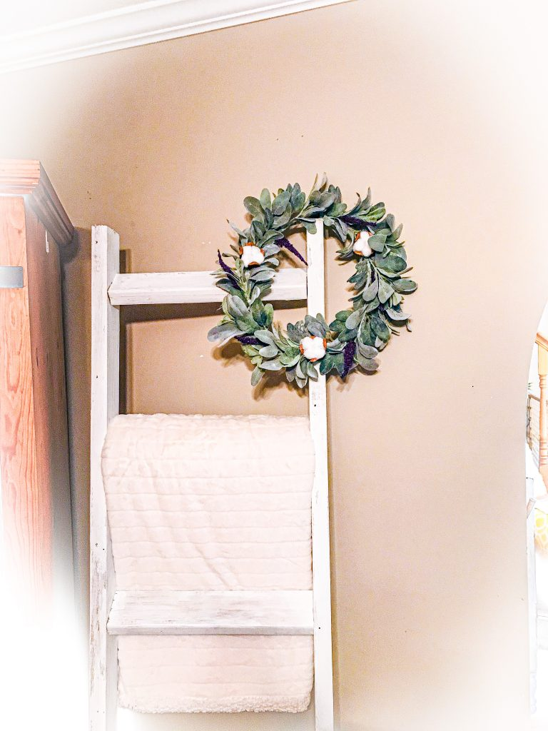 lambs ear wreath diy | affordable farmhouse decor ideas | farmhouse wreath DIY | Cheap farmhouse decor