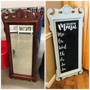 Chalk Board DIY – Kitchen Menu Board