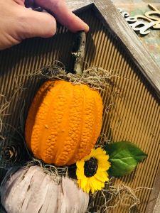 dollar tree pumpkin | thrift store upcycle idea | fall mantel decor