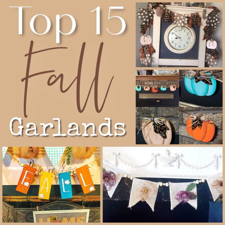 top fall garlands | mantel decor ideas | fireplace decor
