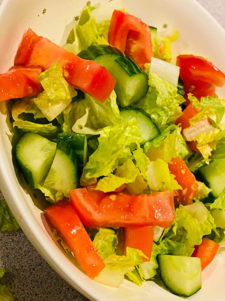chopped salad ready in a bowl