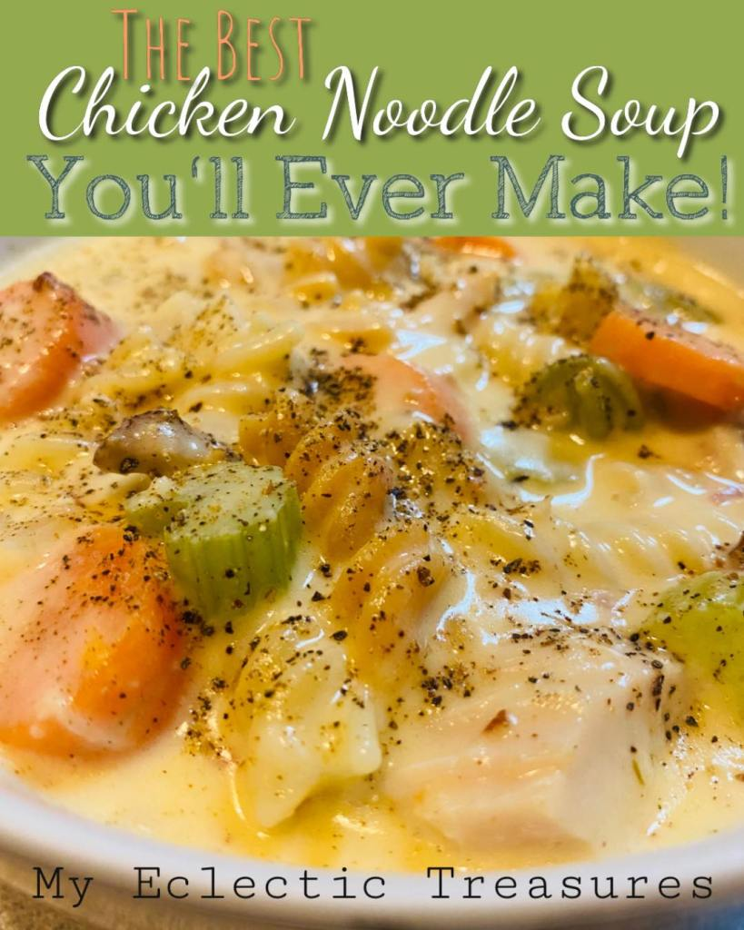 creamy chicken noodle soup | #creamychickennoodlesoup