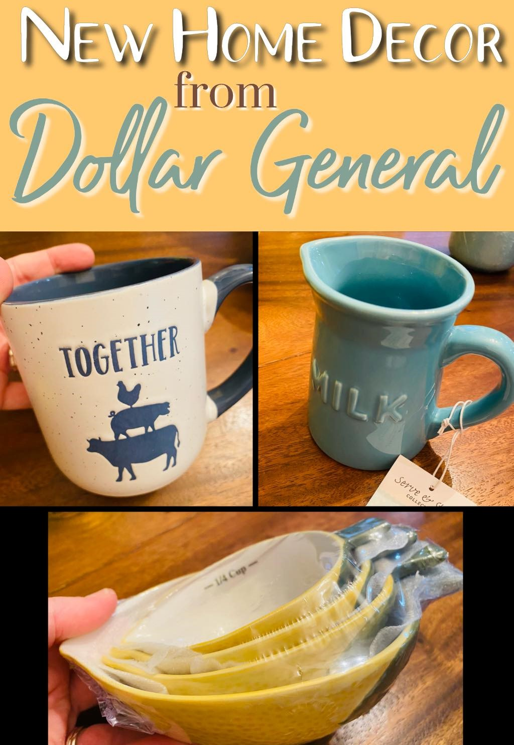 New Home Decor Items from the Dollar General!