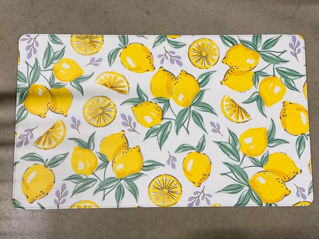 lemon floormat | Dollar General floor mat | #dollargeneraldecor