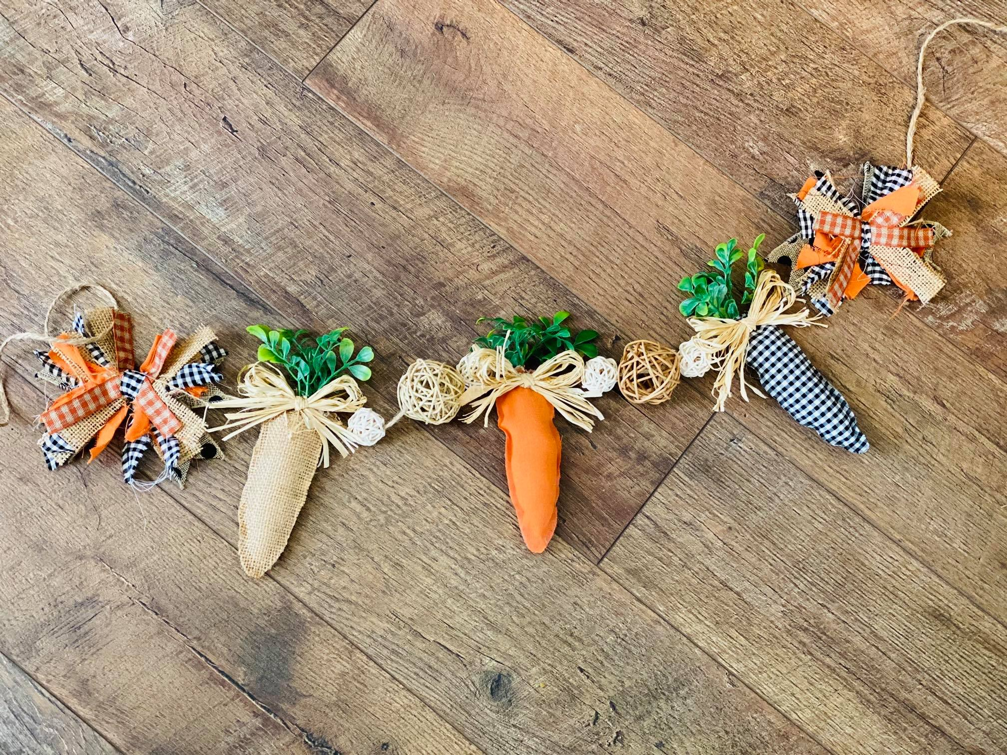 Farmhouse Carrot Garland – How to Bring Some Spring to your Mantel!