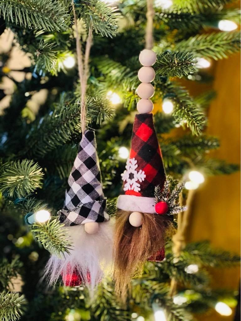 miniature gnome Christmas ornaments #gnomeornaments #styrofoamchristmasornaments #styrofoamcrafts #gnomecrafts #styrofoamconegnome