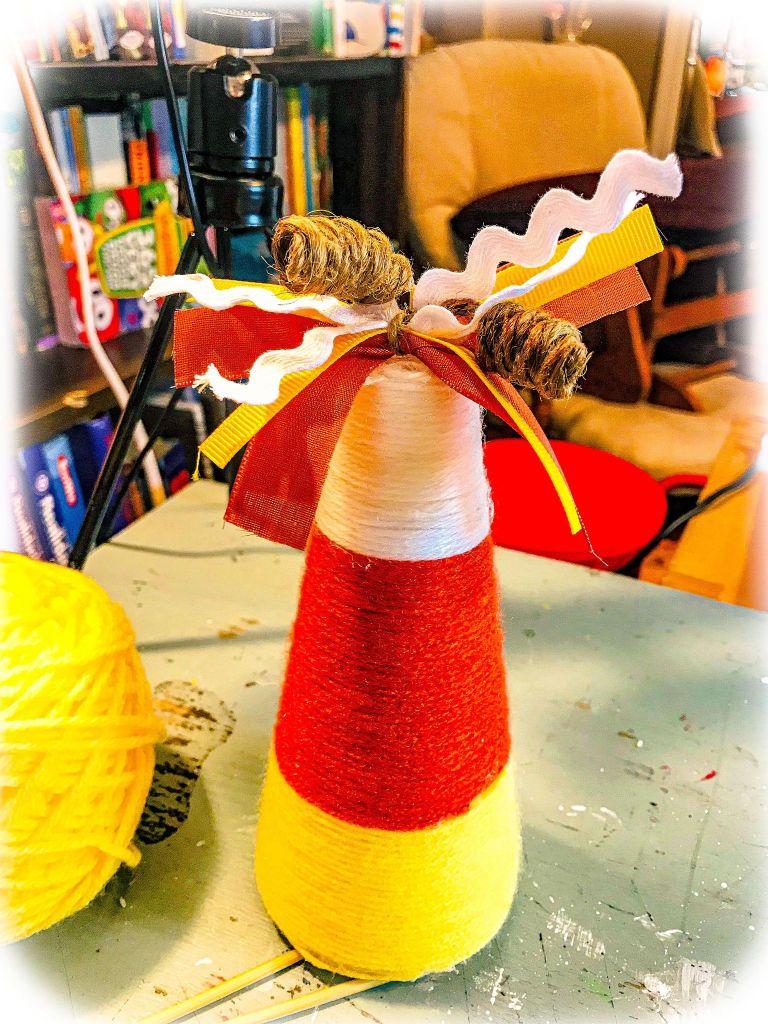 yarn candy corn #yarncandycorn #candycorndiy