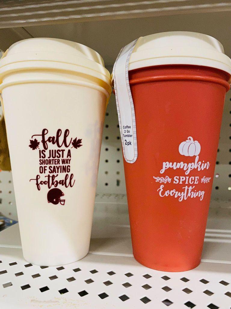travel coffee mugs from Dollar General