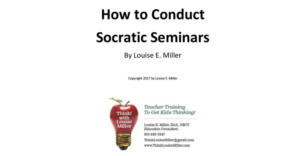 How to Conduct Socratic Seminars