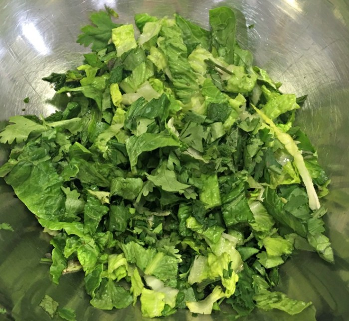 Lettuce and herbs - base for Chopped Thai Salad