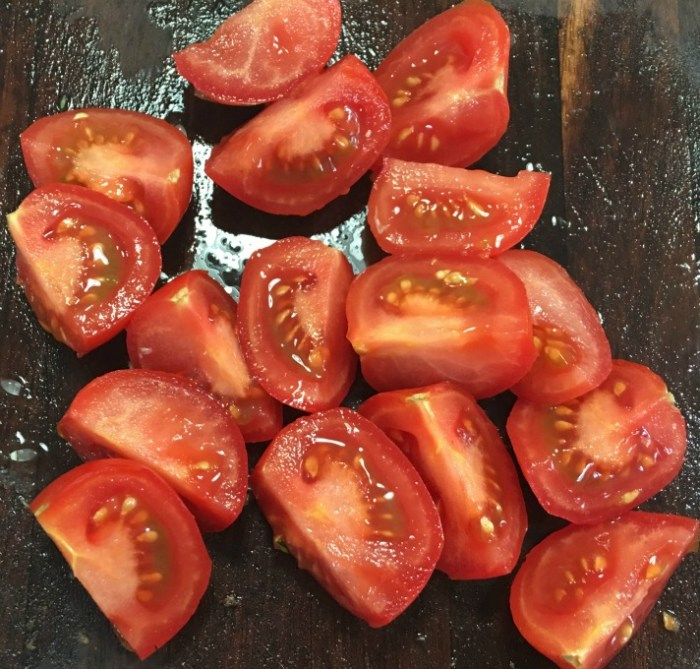 Tomatoes for Chopped Thai Salad