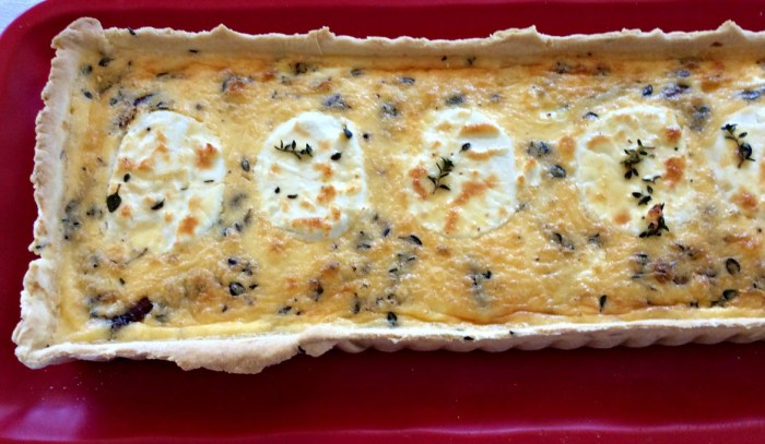 Carmelized Onion and Goat's Cheese Tart